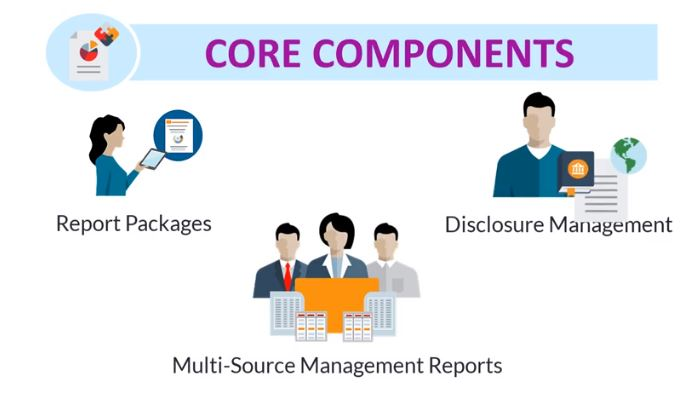 Narrative reporting consulting London - Core Components